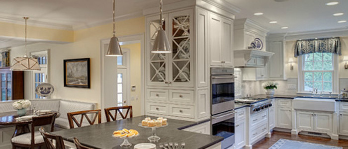 Grabil custom white kitchen cabinets
