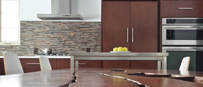 Grabill custom kitchen in contemporary style with Rosewood finish