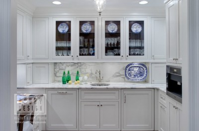 Drury Design's built-in banquette feature from Grabill Cabinetry.