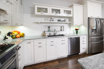 Grabill custom cabinets with innovative electrical outlet placement for appliances