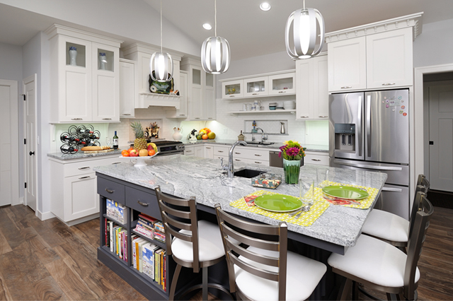 Grabill contemporary style custom kitchen cabinets