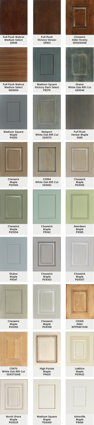 Grabill - 27 Custom color door styles