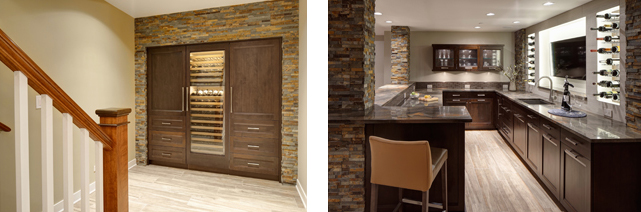 Contemporary Rustic Basement
