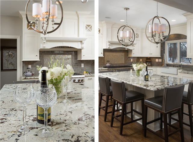 Chandelier-and-Granite-Counter-Tops
