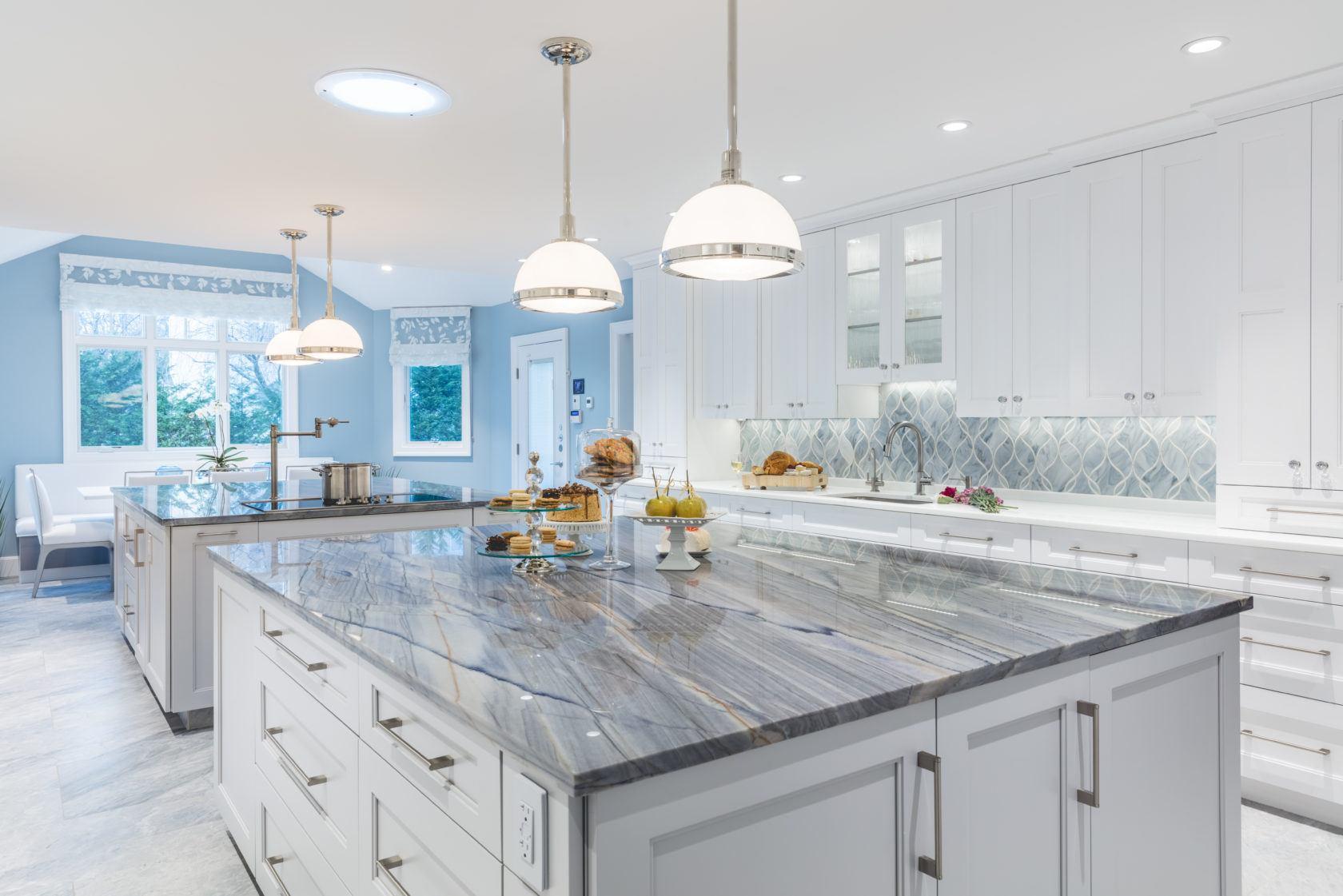 Double Kitchen Islands Modern